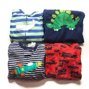 Carters Zip Up Pajamas 18M (Lot of 4) A010783